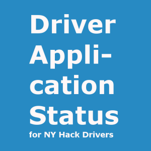 Logo for New York TLC application status 512v1